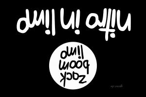 Evakuierung von IS-Kämpfern mit deutscher Hilfe IS Flag nitro in limo zack boom limo coca cola PR Aktion