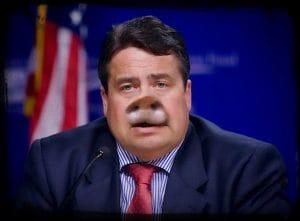 Oink, oink, die linken Schweine entdecken den Kapitalismus für sich Siegmar Gabriel Farm der Triere die Schweine am Ruder schweinerei SPD asoziales Pack wider der Menschlichkeit qpress