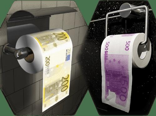 Klopapier Abrollrichtung EU Norm vorn haenegnd geldscheine EZB Toilettenpapier