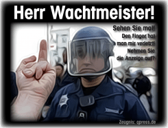 Die POLIZEI und CONSTELLIS oder Warum ist die POLIZEI so unmenschlich?