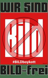 BILDungsverweigerer boykottieren Springer-Stiefel-Presse Wir sind Bild-frei bildboykott Presse Springer Verlag