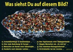 EU will Schlepper-Geschäft mit den Flüchtlingen selbst übernehmen Schlepper-Geschäft bootsfluechtlinge_was_siehst_du_auf_diesem_bild frontex boot flucht mittelmeer ertrinkende seenot schiffbruechige qpress