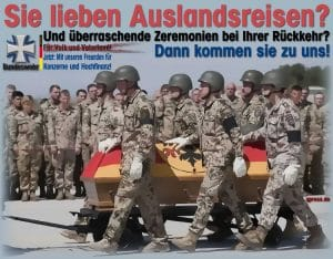 Bundeswehr Spaß Agentur nimmt minderjähriges Kanonenfutter ins Visier sie_lieben_auslandsreisen_bundeswehr_besondere_zeremonien_militaer_soldaten_soeldner_heer_luftwaffe