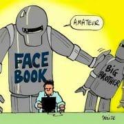 Facebook grosser bruder uebrwachung bespitzelung spionage datenmissbrauch kommerz ortungsdienst twitter google big brother