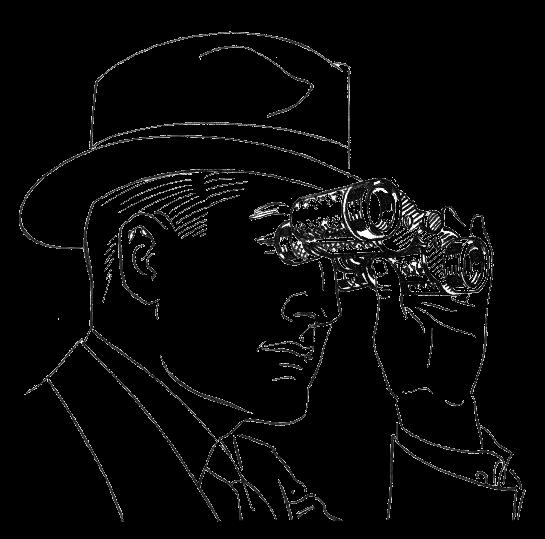 Fernglas Spionage Bespitzelung Ueberwachung Polizeistaat Agent Spitzel Blockwart Diktatur tatalitaerer Staat repression beobachtung