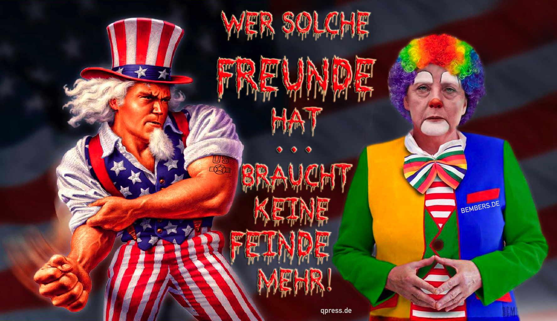 Wer solche USA Merkel Obama Freunde hat braucht keine Feinde mehr qpress kasernen deutsch amerikanische freundschaft