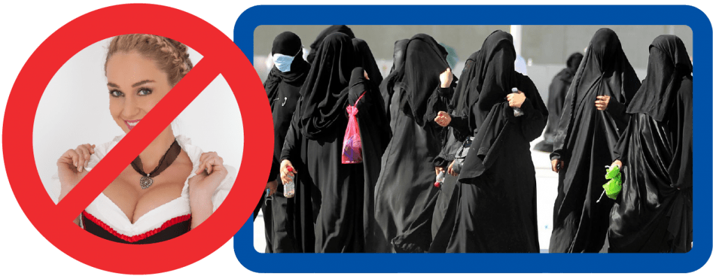 Trachten für Madl Dirndl Burka Tradition Niqab bekleidung anstand sitte gastfreundschaft respekt fluechtlinge bayern peinlichkeit selbstverleugnung-01