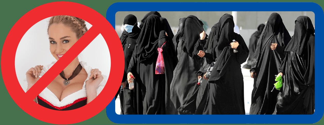 Dirndl Burka Tradition Niqab bekleidung anstand sitte gastfreundschaft respekt fluechtlinge bayern peinlichkeit selbstverleugnung-01