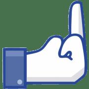 GEZ und Bürgerperformance zur Rettung des Bargelds Facebook-Fakebook-dislike button stinkefinger qpress