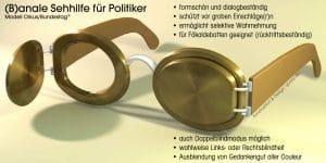 Anale Sehhilfe fuer Poltiker Klo-Brille scheuklappen spritzschutz Blickschutz definierte Sehrichtung Kleptokratie