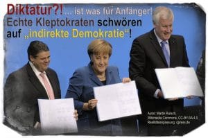 Merkel, Schulz, Seehofer: gemeinsamer Rücktritt