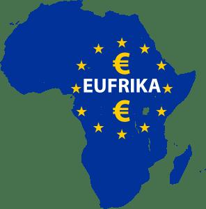 Visafreiheit EUFRIKA_Cartography_of_Africa_Afrika_Europa_EU_Kontinent_silouette_Landkarte_Symbol