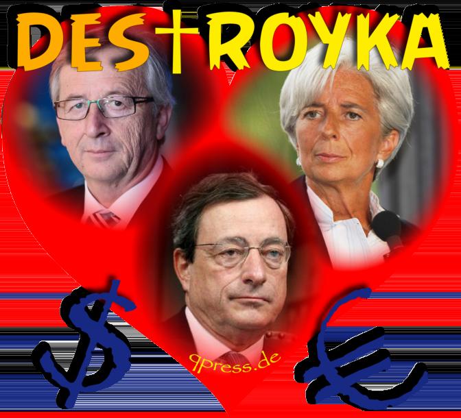 Heart and Soul of Gold Herz und Seele des Geldes currencies Draghi Lagarde Juncker Euro Dollar Money qpress fakeworld EZB Zentralbank Geldschwindel Betrueger DesTroyka