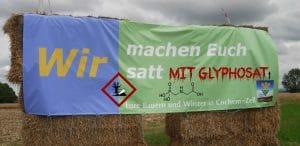 Herbizid, Pestizid, Genozid: Glyphosat muss genehmigt werden Wir machen Euch satt mit Glyphosat Bauern als Giftboten 200715 modifiziert