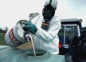 Monsanto schießt sich auf deutsche Aktivisten ein 05-Mobnsanto Gift in oel das Idyll vom Lande bauer bei der Arbeit