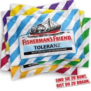 Führer's Fisherman: Surfen auf der braunen Welle Fishermans friend fuehrers braune welle vollhohol pastillen menthol braune Welle