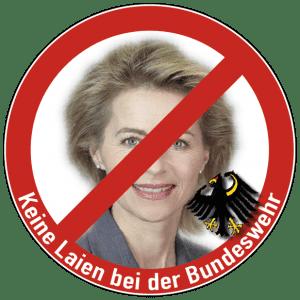Personalnot bei Bundeswehr und EU-Armeen mit Flüchtlingen beheben Keine Laien bei der Bundeswehr Bundesadler Ursula von der Leyen Flintenuschi-qpress72dpi