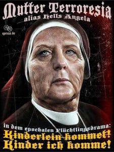 Eklat auf Parteitag: Merkel droht CSU mit Verbot Angela_Merkel_CDU_Bundesmutti_Raute_Bundeskanzlerin_Terror_Mutter_Teresa_Terroresia_der_Nation_alternativlos_Flucht_Hexe_Nonne_DDR_FDJ_Ungarn-Oeterreich_Krise_Drama_Leid_Elend