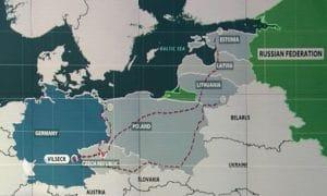 US-Terrormilizen veranstalten Roadshow an der Ostfront Route der US-Terrormilizen vom Baltikum nach Deutschland