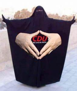 Diskriminierung Angela Merkel Raute burka Islam Frauen Zeichen Markenzeichen Anpassung Konvertierung Integration Zuwanderung Anpassung