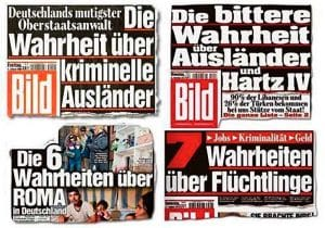 HETZ am Sonntag, die Kai Diekmann Shitstorm-Brille BILD BLOED Hetzkampagnen gegen Fluechtlinge zusammenstellung BILD-Beweis