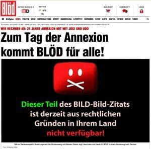 Wiedervereinigungs-Coup: Ganzer LKW #BILDindieTonne bloed-bild-sonderuasgabe-25-jahre-deutschland-bananenrepublik-mit-jogi-loew-und-udo-lindenberg-25-jahre-annexion
