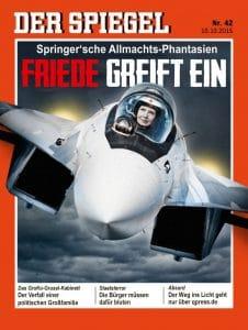 Leyenhafter Titelkampf bedroht den Weltfrieden Der Spiegel 42_2015 Putin greift an Friede greift ein Uschi greift an Friede Springer