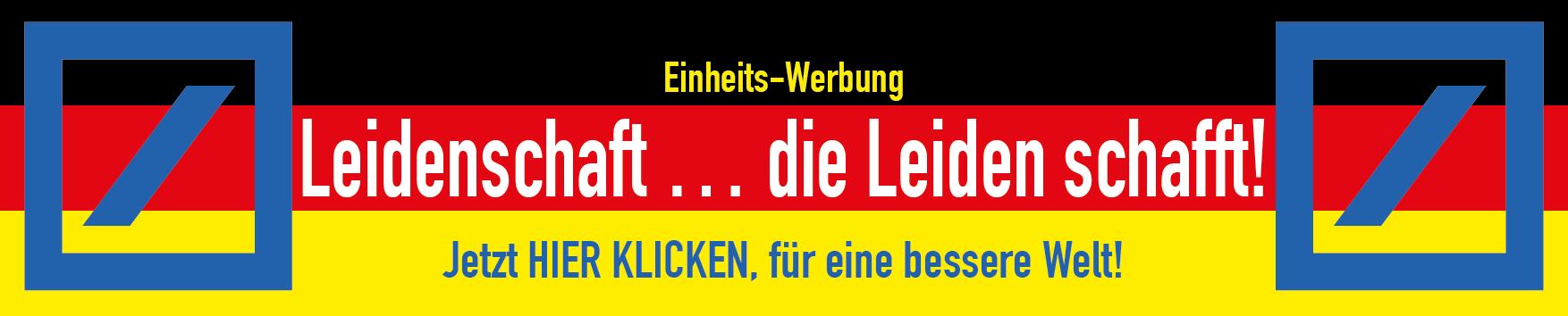 Wiedervereinigungs-Coup: Ganzer LKW #BILDindieTonne Deutsche Bank Leidenschaft die Leiden schafft fuer eine bessere welt 25 jahre deutsche einheit
