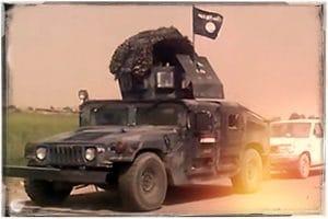 Humvee erinnerungsfoto IS aus dem Irak