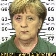 Mugshot Fahndungsbild Angela Dorothea Merkel alias Hells Angela alias Mutter Terroresia alias Bundesmutti Mutter der Nation verbrechen gegen die Menschlichkeit schlepper schleuser fluchthilfe qpress