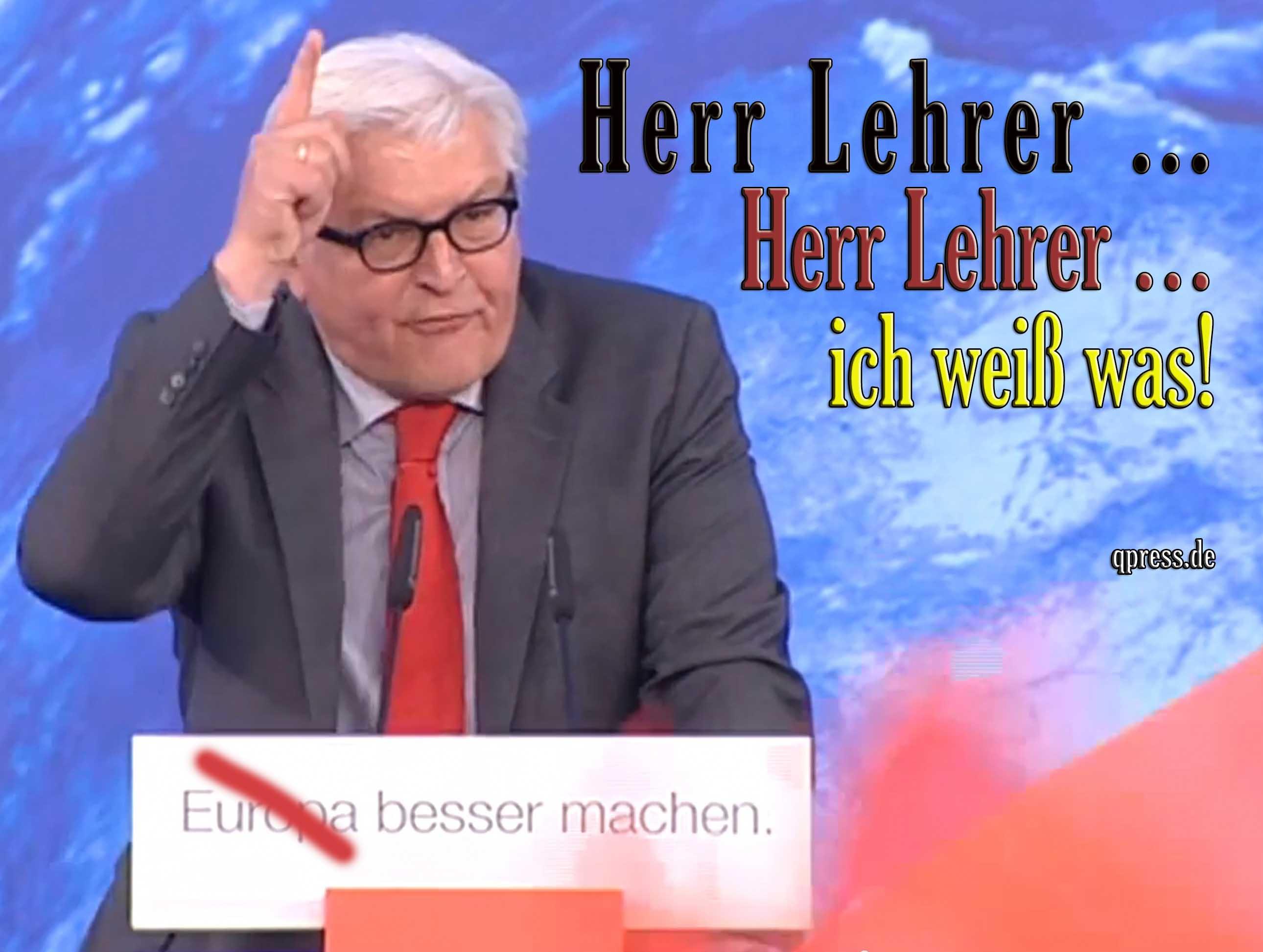 Steinmeier, Frank-Walter - Herr Lehrer ich weiss was