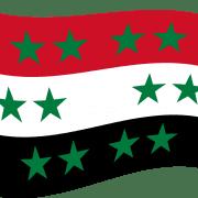 neue syrische flagge mit 12 sternen nach dem krieg und eu anpassung