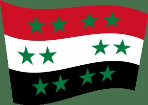 Syrien kommt in die EU und wird sicherer Drittstaat neue syrische flagge mit 12 sternen nach dem krieg und eu anpassung