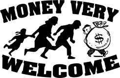 refugees-money very welcome tag der deutschen weinheit wird welt-willkommenstag zusammen mit weltspartag