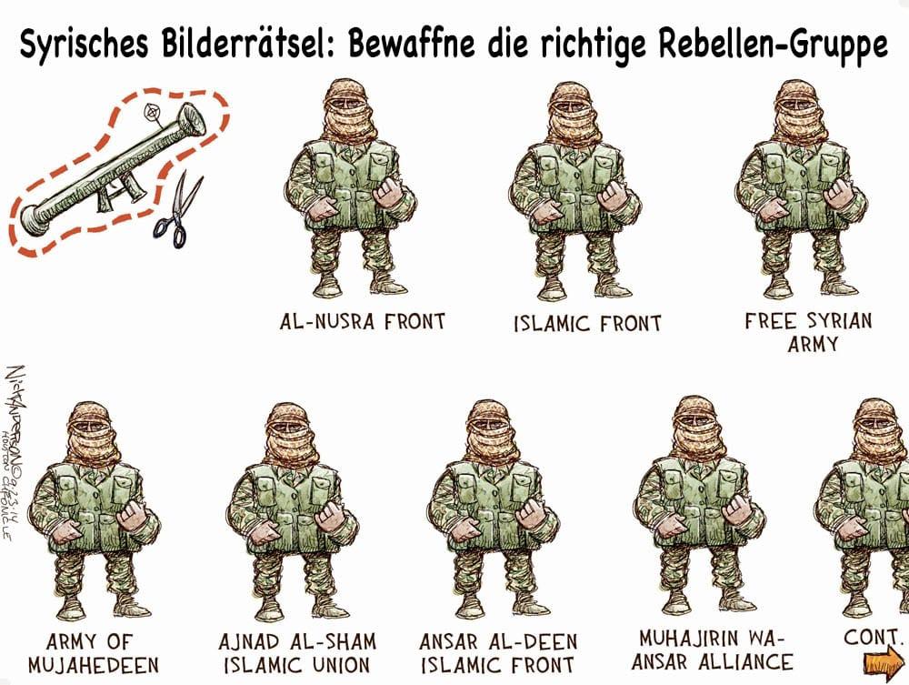 syrisches bilerraetsel bewaffne die richtige rebbeln gruppe