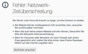 Das 11/21 der Medien: SPIEGEL-offline, FOCUS-offline, BILD-Selbstkastration Bildschirmfoto 2015-11-21 um 12.32.34 offline Netzwerkfehler nicht erreichbar