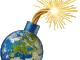 Bombe Erde lunte zuendschnur Attentat Umwelt Terror Klimareligion klimagipfel protest wahnsinn