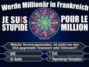 Millionenfrage paris november 2015 werde millionaer in frankreich je suis stupit pur le million terror 1113 geheimdienste verdummungqpress