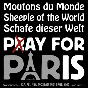 IS bedauert Kollateralschaden in Paris Pray pay for Paris sheeple of the World qpress