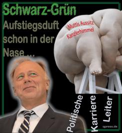 Schwarz Gruen Aufstiegsduft Trittin Karriereleiter Koaltion politik ambitionen Merkel