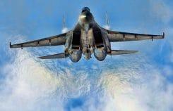 Sukhoi_Su-35S_at_krieg kriegsfestspiele syrien jet flugzeug kampfflieger militaer kraeftemessen