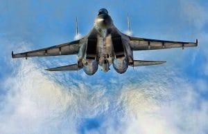 Mossul wird ausgelöscht - und die Welt schaut zu Sukhoi_Su-35S_at_krieg kriegsfestspiele syrien jet flugzeug kampfflieger militaer kraeftemessen
