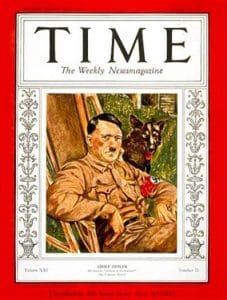 Adolf Hitler 1938 person of the year time magazine