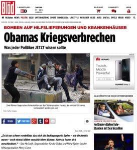 Obamas Kriegsverbrechen, Bomben auf Hilfslieferungen und Krankenhäuser Serioese Berichterstattung deutsche Qualitaetsmedien BILD bloed Hetzblatt Putin Syrien Obama Russland USA Kriegsverbrechen ISIS Konflikt Krise Weltkriegspotential