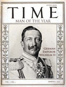 "Time kürt Rauten-Luder Merkel zur ""Person of the War 2016"" Time_Magazine_-first_man of the year kaiser Wilhelm"