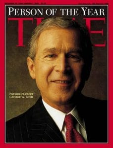 "Time kürt Rauten-Luder Merkel zur ""Person of the War 2016"" george-w-bush-time-magazine-person-of-the-year-2000"