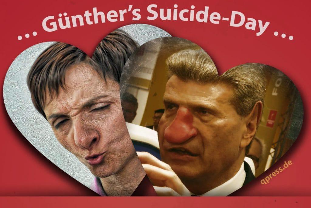 Frauke Petry zu Blitzheirat mit EU-Kommissar Günther Oettinger bereit Frauke Petri Guenther Oettinger suicide day 2016 leere Versprechungen-01
