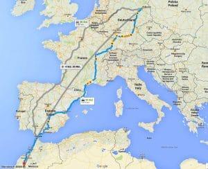 Landkarte Strecke Marokko Fluchtweg Deutschland Route Balkan Willkommen Kultur Angela Merkel sicher fluechten