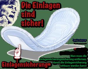 Merkel, die Einlagen sind sicher - Einlagensicherung kn-01