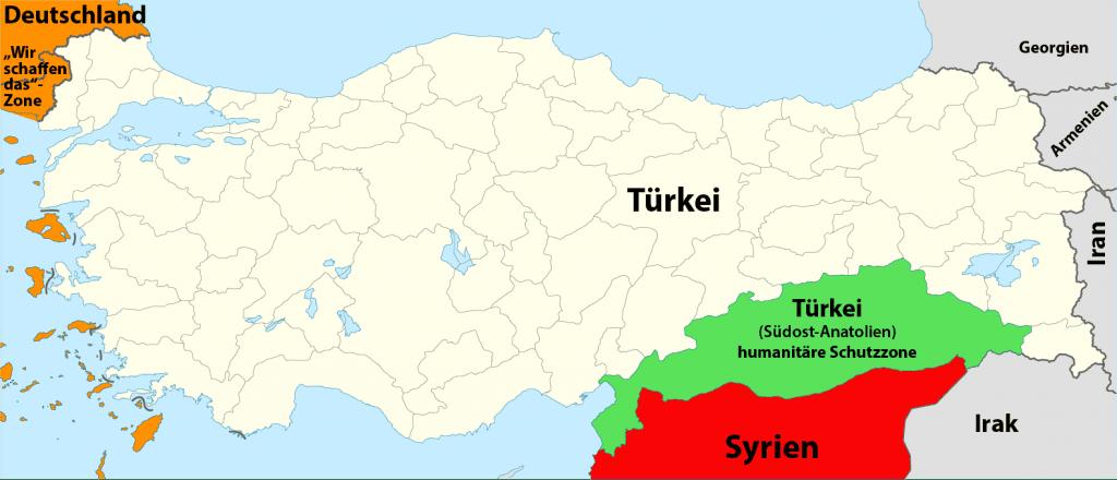 Turkey_location_map_schutzzone_suedost_anatolien syrien konflikt konzept kriegsplan friedensplan